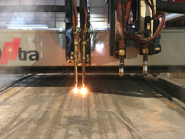 Plasma and oxy-fuel cutting of steel plate